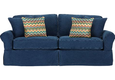 blue jean denim sofa cindy crawford home sunny isles blue sofa sofas blue
