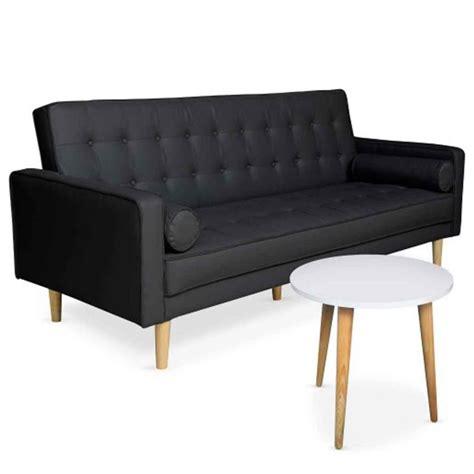 canape d appoint ensemble canapé convertible table d 39 appoint quot tenor quot noir