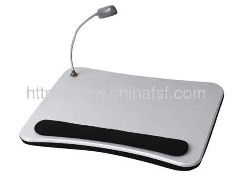 cushioned desk with light single color desk with cushion and light for laptop