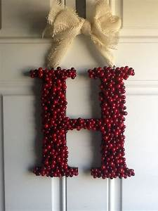 letter h christmas wreath letter decor pinterest With letter christmas wreath
