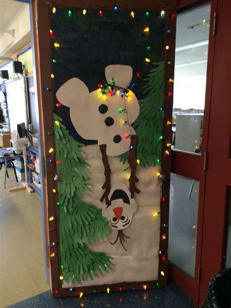 olaf holiday door decoration  school education