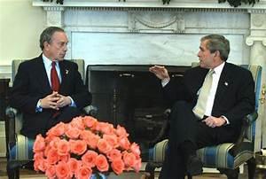 President George W. Bush talks with New York City Mayor ...