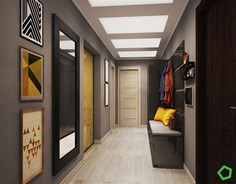 Traditional House With Open Layout Interiors With Yellow