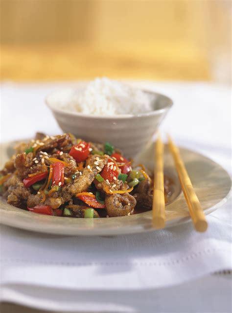 cuisine chinoise poulet croustillant boeuf croustillant à l 39 orange ricardo