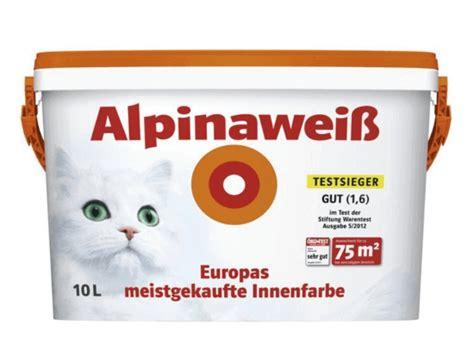 Alpina Innenraum Weiß Test by 33 Wei 223 E Wandfarben Im Test 2018 Test