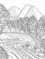 Coloring Stream Getdrawings sketch template