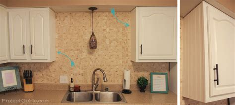 Bead Board Cabinets by Diy Beadboard On Our White Painted Kitchen Cabinets