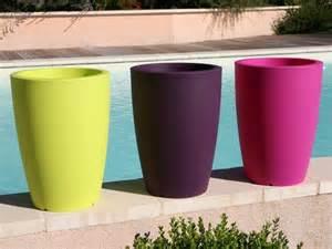 Pot Plastique Jardinage by Pots De Fleurs Et Bacs Ronds Designs En R 233 Sine Plastique