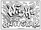 Graffiti Coloring Pages Teenagers Words Getdrawings sketch template