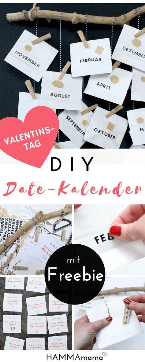 diy zum valentinstag mit freebie  date kalender selber