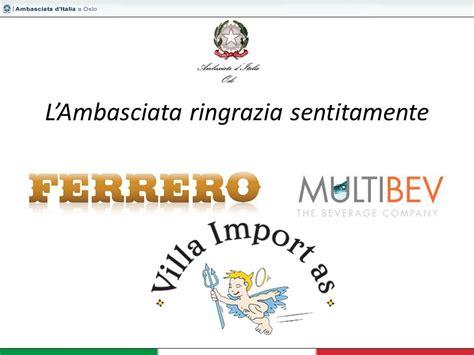 consolato norvegese ambasciata d italia oslo