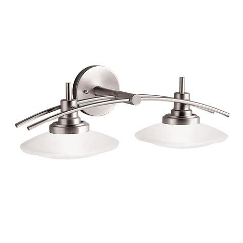 bathroom lighting fixtures kichler lighting 6162ni structures wall mount 2 light