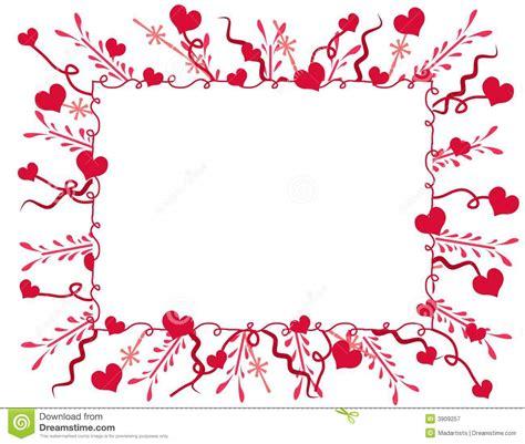 Decorative Valentine Hearts Frame Or Border Stock ...