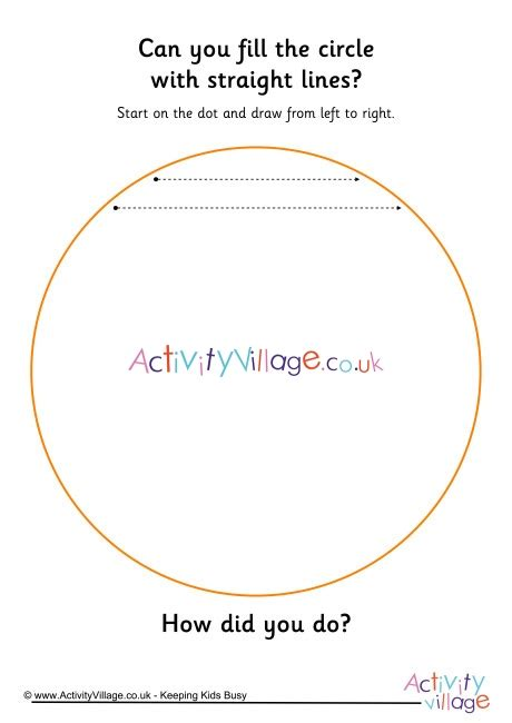 handwriting readiness fill  circle  straight lines