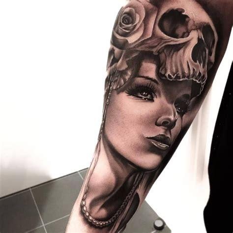 38 best Girl Skull Face Tattoo images on Pinterest   Skull ...