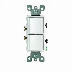 Leviton Decora 15 Amp 3-way Ac Combination Switch  White-r52-05641-0ws