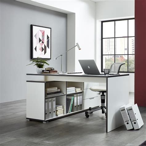 small white corner computer desk uk alantra wooden corner computer desk in white with storage