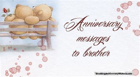 wedding anniversary wishes messages quotes  brother