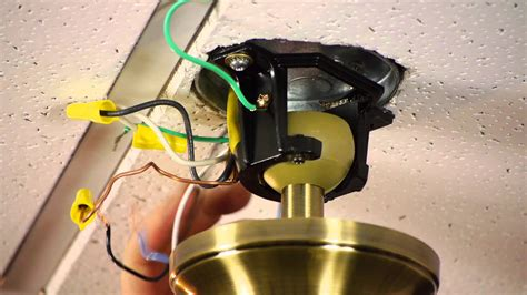 how to install ceiling fan wiring how to install a ceiling fan on a prewired ceiling fan