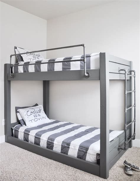 bunk bed diy industrial bunk bed free plans