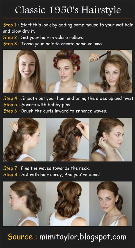 1950s Hairstyle Tutorial by Classic 1950 S Hairstyle Tutorials