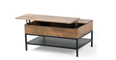 lomond table basse modulable avec coffre de rangement
