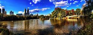 The Lake and oak bridge at Central Park #NYC a Panorama # ...