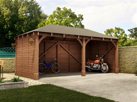 Moderne Häuser Mit Carport by Atlas Shallow Carport Garages