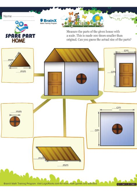 spare part home math worksheet  grade