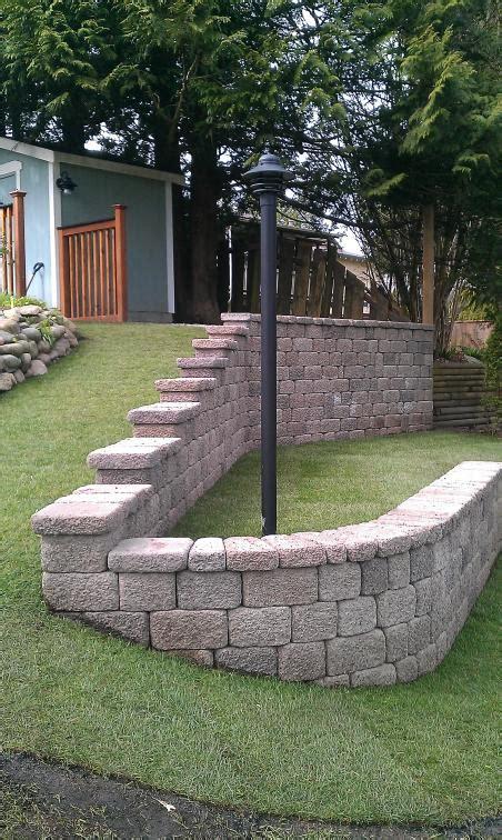 residential retaining wall basalite