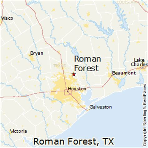 places    roman forest texas