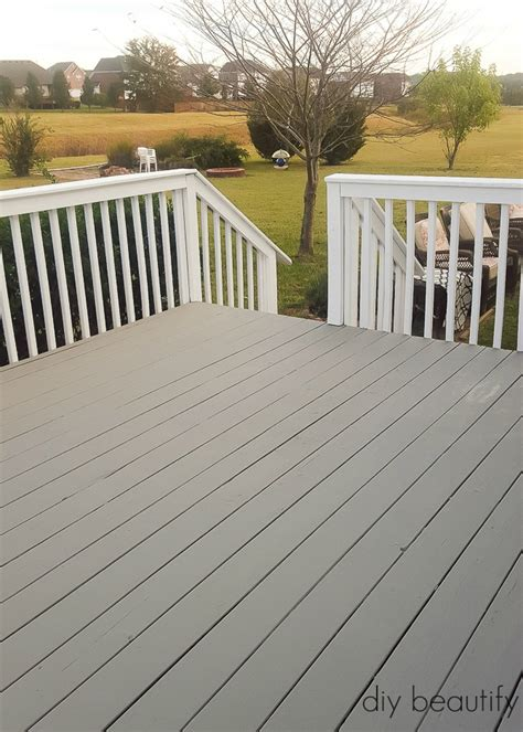 update  deck  paint diy beautify