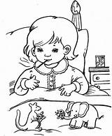 Sick Coloring Pages Child Feeling Print Printable Anointing Sacrament Popular sketch template