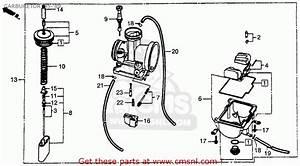 Honda Cr250r Elsinore 1986  G  Usa Carburetor  U0026 39 85- U0026 39 89