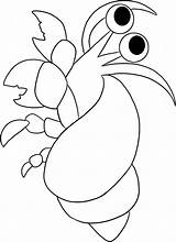 Crab Coloring Hermit Pages Simple Cartoon Drawing Animals Printable Print Crabs Colouring Sheet Animal Sea Animalstown Clip Creatures Getdrawings Cliparts sketch template