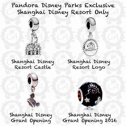 Disney Pandora Exclusive Parks Charms Spring Shanghai