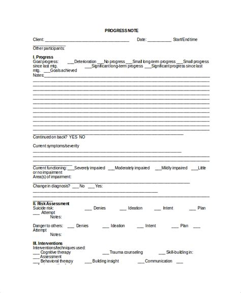 clinical resume for progress note sle therapy note template 5 free documents in pdf word