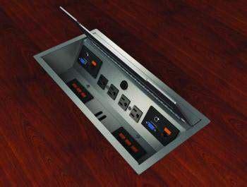 Silver Conference Table Power Module Madison Liquidators