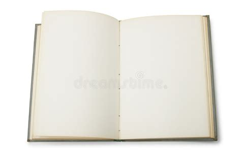 Open Book With Blank Pages Stock Photo. Image Of Empty