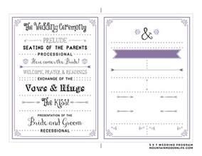 wedding programs template free printable wedding program mountainmodernlife
