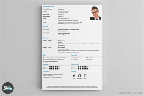 Professional Cv Resume Maker by Resume Builder Creative Resume Templates Craftcv