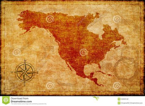 north america map  parchment stock illustration