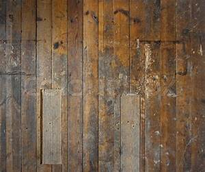 Old aged wooden plank floor or wall structure Stock