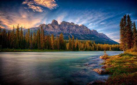 Nature Mist Landscape Sunrise Mountain Forest River