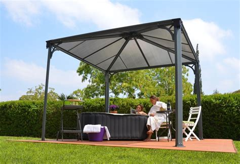 palram palermo garden gazebo lay  spa hot tub awning canopy  delivery  ebay