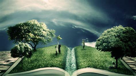 creative book herbs trees wallpapers hd