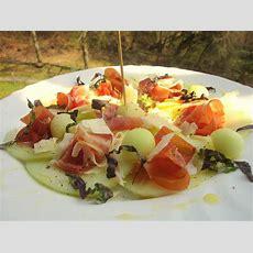 Carpaccio Mit Melone, Schinken Und Parmesan Von Balke