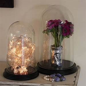 glass bell jar dome with wooden base by lisa angel ...