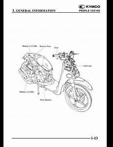Kymco People 125  150 Motocycle Service Repair Workshop