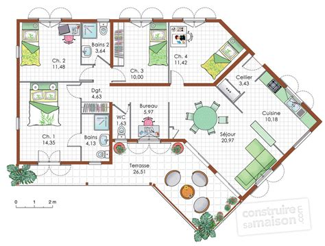 maison de plain pied 5 d 233 du plan de maison de plain pied 5 faire construire sa maison